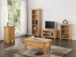 Newbridge Solid Oak Small Straight TV Unit