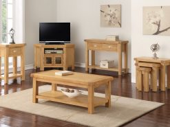 Newbridge Solid Oak Nest of 2 Tables