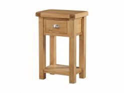 The Newbridge Solid Oak Telephone Table