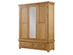 Annaghmore Newbridge Light Oak 3 Door Wardrobe