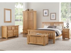 Annaghmore Newbridge Light Oak 3 Over 4 Drawer Chest