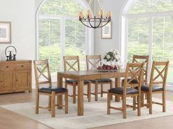Annaghmore Oakridge Dark Oak 5ft Extension Dining Set
