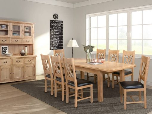 Annaghmore Clonmel Light Oak 180cm Extension Dining Set