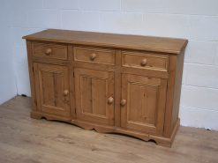 Farmhouse Large Solid Wooden 3 Door Sideboard