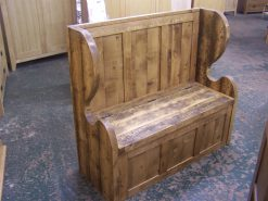 Madrid Solid Reclaimed Rustic Pine Monks Bench
