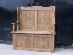 Almeria Solid Reclaimed Rustic Pine Monks Bench