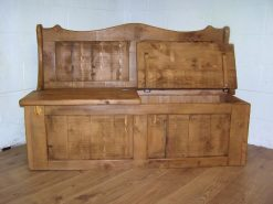 Cotswold Solid Reclaimed Pine 2 Seater Monks Bench