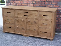 Napoli Solid Pine Large 8 Drawer Sideboard