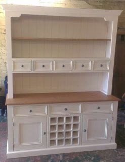 The Really Solid Furniture Company | Barcelona Solid Wood Dresser With Wine Rack