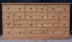 Reclaimed Solid Pine Antique Style 16 Drawer Multi Chest