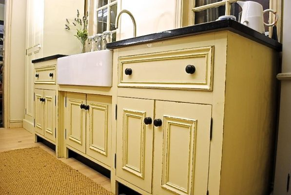 The Really Solid Furniture Company - Cream Painted Belfast Sink Unit