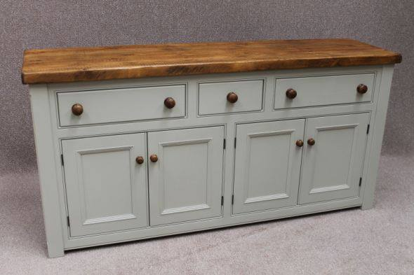 The Really Solid Furniture Company - Bespoke Farrow & Ball Painted Four-Door Sideboard