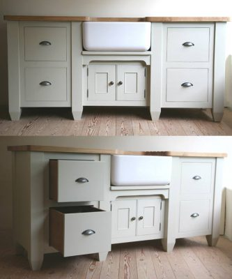 The Really Solid Furniture Company - Farrow & Ball Painted Belfast Sink Cabinet