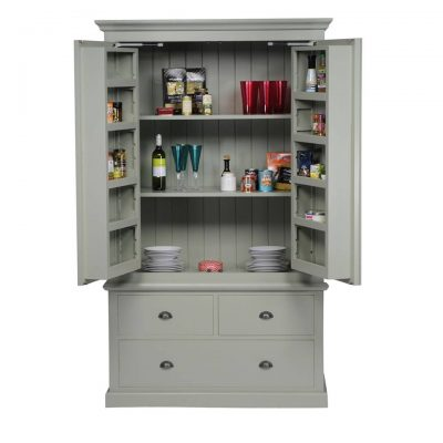 The Really Solid Furniture Company - Farrow & Ball Painted Kitchen Larder Unit