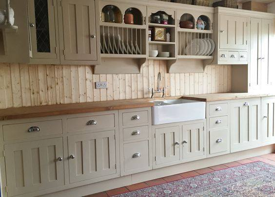The Really Solid Furniture Company - Bespoke Farrow & Ball Painted Farmhouse Style Kitchen