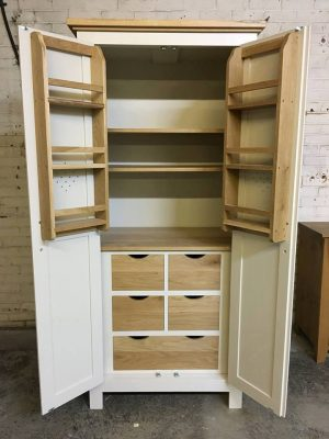 The Really Solid Furniture Company - White Solid Wooden Painted Larder