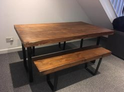 Chunk Reclaimed Wooden 5ft Table And Bench