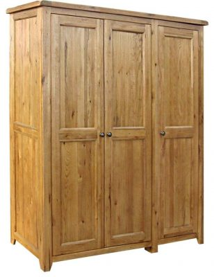 The Really Solid Furniture Company - Triple Oak Wardrobe