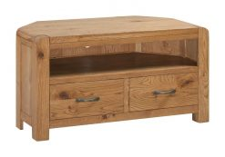Annaghmore Capri Rustic Oak Corner Tv Unit
