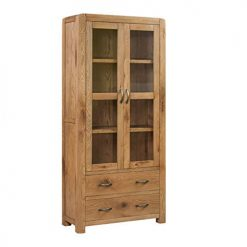 Annaghmore Capri Rustic Oak Large Display Cabinet