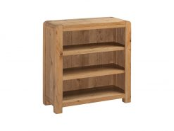 Annaghmore Capri Rustic Oak Low Bookcase
