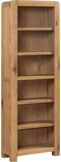 Annaghmore Capri Rustic Oak Tall Slim Bookcase
