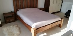 Brazil Reclaimed Solid Pine Double Bed Frame
