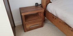 Brazil Reclaimed Solid Pine Small Double Bed Frame